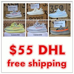 Wholesale Shoes Big Size Man - DHL Season 3 SPLY 350 Boost V2 With Box Best Quality men shoes women running Shoes Sneakers 350 Boost V2 men shoes big size us13