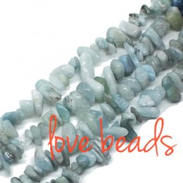 Wholesale Aquamarine Beads 8mm - 5-8mm Natural Aquamarine Freeform Gravel Loose Beads Strand 80CM DIY Gems Free Shipping (F00325) wholesale