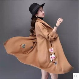 Wholesale Mink Fashion Clothing - Wholesale- Sweater Imitated mink wool Sweater Women Winter clothes Sable villi clothes Coat Embroidered Latest Fashion High quality BN912
