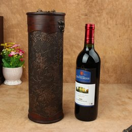 Wholesale Wood Wine Boxes Wholesale - Wholesale custom made antique wine, retro packing , gift box, wine box, cylinder, red wine box