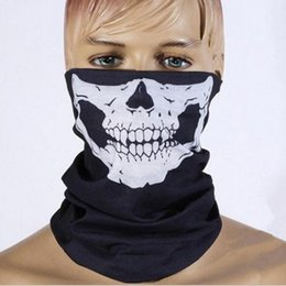 Wholesale scary skeleton - Halloween Scary Mask Festival Skull Masks Skeleton Outdoor Motorcycle Bicycle Multi Masks Scarf Half Face Mask Cap Neck Ghost