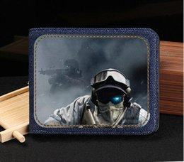 Wholesale Future Game - Ghost Recon wallet Future soldier purse Game short cash note case Money notecase Leather burse bag Card holders
