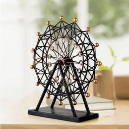 Wholesale Handmade Metal Crafts - Handmade Reminiscent Iron Art Ferris Wheel Model Metal Craft Accessories Embellishment Furnishing for Home Decor and Gift