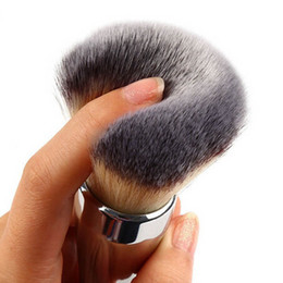 Wholesale Top Quality Synthetic Hair - TOP Quality New Ulta Silver Metal Handle Synthetic Hair It NO. 211 Loose Powder Makeup Brushes