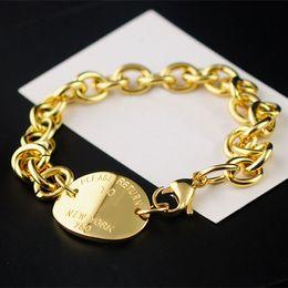 Wholesale Oval Id Bracelet - Hot titanium plated bracelet wholesale western style NEWYORK brand ID oval lobster clasp Bracelet for women Pulseira Feminina Masculina