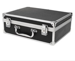 Wholesale Dedicated Tattoo - Wholesale-Sodial large tattoo kit carrying case with lock black toolbox dedicated work outside the box tattoo equipment