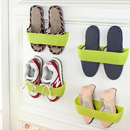 Wholesale Hanging Shoe Racks - Wall Mounted Shoes Rack Hanger Organizer with Foam Tape Shoes Rack Wall Hanging Shoes Organizer Hanger Hook