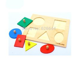 Wholesale Juguetes Montessori - Wholesale-Baby Infant Toddler Material - Multiple Shape Wood Puzzles For Children 3 Years Wooden Montessori Puzzle Juguetes Educativos
