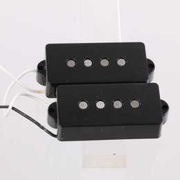 Wholesale Pickups Bass Guitar - BASS GUITAR PICKUPS VINTAGE STYLE FOR P BASS ALNICO 5 MAGNETS BLACK