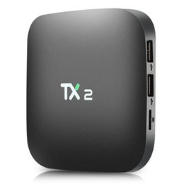 Wholesale Th Wholesale - TX2 2GB 16GB Rockchip RK3229 Android 6.0 TV BOX Support H.265 4K 60tps H.265 2.4GHz WiFi BT2.1 Media Player IPTV Box TX2 R1 R2