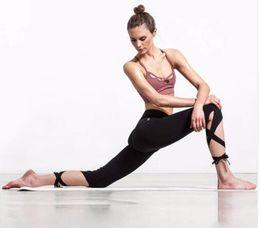 Wholesale Leggings Solid Spandex - Women Ballerina Yoga Pants Sport Leggings High Waist Fitness Cross Yoga Ballet Dance Tight Bandage Cropped Pants Sports