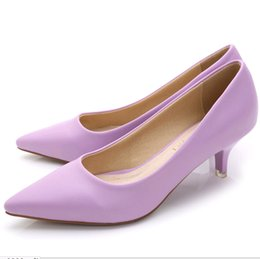 Wholesale Nude Bridesmaids Shoes - High quality Sweet shoes pointy shoes work shoes Fine sexy OL in the nude leather inside light with single shoes bridesmaid wedding shoes