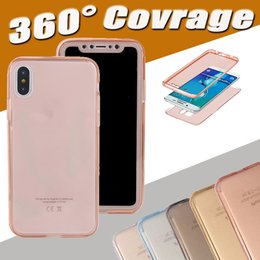 Wholesale Body Flexible - 360 Degree Full Body Front Back Transparent Clear Flexible Soft TPU Cover Case For iPhone X 8 7 Plus 6 6S SE 5S Samsung S8 plus S7 Edge