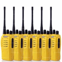Wholesale Handheld Vhf Ham Radio - 6X BaoFeng BF-888S UHF CTS 16 Channel FM Ham Two Way Radio Walkie Talkie Yellow