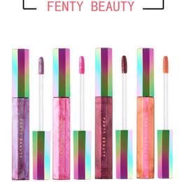 Wholesale Lip Gloss Making - 2018 Fenty Beauty by Rihanna Galaxy Lip Gloss Brands Liquid Lipstick Cosmetic Brands Lipgloss Kit Make Up Gal On The Moon Spacesuit