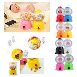 Wholesale Gumballs Machine - Cute Sweets Mini Candy Machine Bubble Gumball Dispenser Coin Bank Kids Toy Worldwide sale