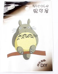 Wholesale Clothes Ironing Press - 50Pcs Child dress pants patch small My Neighbor Totoro Heat Press appliqued clothing decoration iron on patche