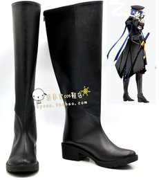 Wholesale Vocaloid Halloween Costumes - Wholesale-VOCALOID Gakupo black Cosplay Boots shoes shoe boot #NC413 Halloween Christmas