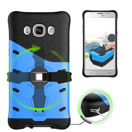 Wholesale Durable Screen Protector - Hybrid Sniper Armor Case For Samsung Galaxy J5 2016 J510 Hard Shockproof With 360 Degrees Rotation Durable Cover W Screen Protector Film