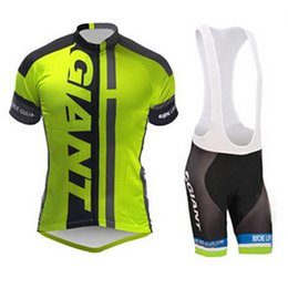 Wholesale Giant Bib Shorts Jersey - NEW Wholesale-Giant Cycling Jersey   bib short sleeve ropa ciclismo Gian bicycle clothing   men team cycling kits + maillot mtb Short outfit