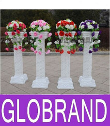 Wholesale Wholesale Columns For Weddings - NEW Height 98cm Roman Road Lead Rome Plastic Column Style With 50Heads Flower And Flower Pot For Wedding Mall Opened Props G0L323