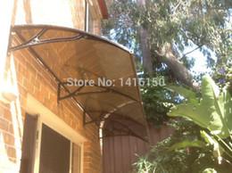 poly sonne Rabatt DS100300-A, 100x300cm, Tiefe 1000mm, Breite 3000mm, schön und einfach zu montierende Vordach-Tür aus Polycarbonat