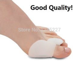 Wholesale Silicon Toes Separator - silicon Gel toe stretcher Separators goodnight foot bunion Protector Straightener Corrector Alignment thumb protection Foot Care Tool