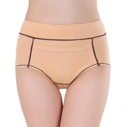 Wholesale Sexy High Waisted Panties - Wholesale cotton Physiological pants female high waisted panties lengthen the broadened plus size triangle health sexy underwear