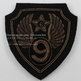 Wholesale Military Style Badges - Brown spot military accessories ninth air force WINGS BADGE armband 6.8*7.2CM