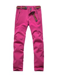 Wholesale Thermal Outdoor Pants Women - Autumn Winter Outdoor Pants Women Softshell Pant Thermal Inner Fleece Waterproof Windproof Trekking Climbing Male Trousers S M L XL XXL