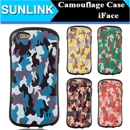 Wholesale Iface Iphone 5s - iFace Small Waist Case Camouflage Camo Shockproof Cell Phone Protector Back Cover for iPhone 6 6s Plus 5 5s se