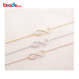 Wholesale Connector Infinity Pendants - 925 silver 8 Tiny Infinity connector sterling silver infinity links Connectors Pendant Charm Components Sterling silver accessories Lovely b
