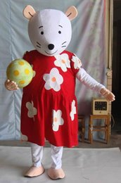 Wholesale Mouse Costume For Sale - hot sale a white mouse mascot costume with two big eyes for adult to wear for sale