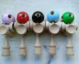 Wholesale Toy Wholesale Kendama - games new 5 Holes +5 Cups Kendama jumbo Ball Toy Japanese Traditional Wood Game Toy PU Paint & Beech For Child Adult
