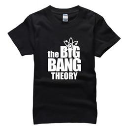 Wholesale Big Bang T Shirts - American TV Series The Big Bang Theory Pure Cotton Round Neck Short Sleeve T Shirt Plus Size Men's Clothing MTZ043