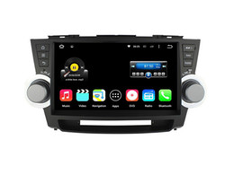 Wholesale Toyota Highlander Gps Dvd Player - 10.1'' Quad Core Android 5.1.1 Car DVD Stereo For Toyota Highlander 2011 2012 2013 2014 With Radio GPS Map Multimedia