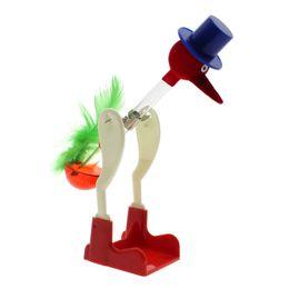Wholesale Drink Bird - Wholesale-Chic Design Red Liquid Glass Drinking Lucky Bird Bobbing Desk Decor Lovely Gift