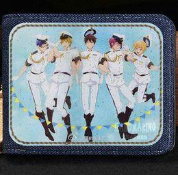Wholesale Card Clubs - Free swim club wallet High speed cartoon purse Anime short cash note case Money notecase Leather burse bag Card holders