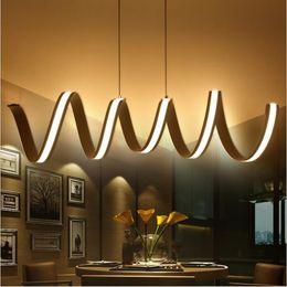 Wholesale Led Modern - Modern Aluminum led chandeliers spring hanging light L600 900 1200mm pendant lighting fixture indoor lights AC85-265V