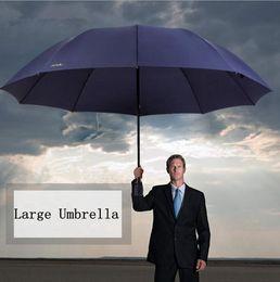 Wholesale Men Umbrella Folding - 152CM Big Umbrella Men Woman Rain Windproof Large Paraguas Male Lady Sun 3 Floding Large Umbrella Outdoor Parapluie OOA2737