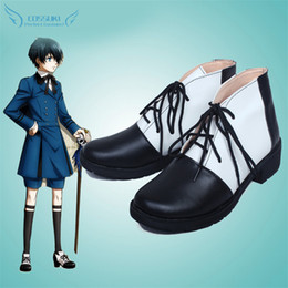 2020 benutzerdefinierte cosplay stiefel Großhandels-Black Butler Ciel Phantomhive Cosplay Schuhe Stiefel Professional Handmade! Perfekte Custom für Sie! rabatt benutzerdefinierte cosplay stiefel