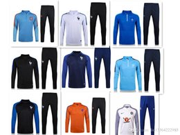 Wholesale Football Training Jackets - AAA+quality 2016 2017 France Football jacket tracksuit 16 17 Netherlands de foot GRIEZMANN POGBA Giroud jacket Training sui