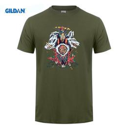 Wholesale Guy Shirts - The Wolf PrincessT-shirts Mens Short Sleeves Organic Cotton Anime Princess mononoke T Shirt Guy Custom Printed Tees