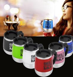 Wholesale Wholesale Plastic Travel Mugs - Self Stirring Mug 401-500Ml Coffee Automatic Electric Travel Mug Coffee Mixing Drinking Cup mixer stir mug KKA1876