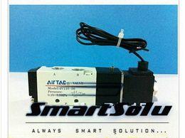Wholesale 12v Pneumatic Solenoid - 1 8'' BSP Pneumatic Airtac Air Solenoid Valves 4V110-06 With Lead Wire ,5 Port 2 Position 12V 24V DC 110V 220V AC