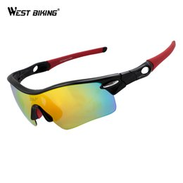 Wholesale Prescription Polarized Lenses - Polarized Cycling Glasses Outdoor Sports Bicycle Glasses Prescription Safety Bicycle Glasses 5 Lenses Polarized Cycling GLasses