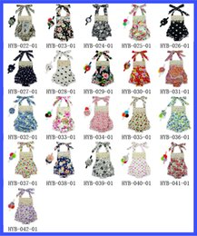 Wholesale Dot Bubble - Baby Lace Romper Straps dress 0-3TPolka Dot Halter Romper +Hair Accessories Bubble Romper ruffle Girls Sweetgirl