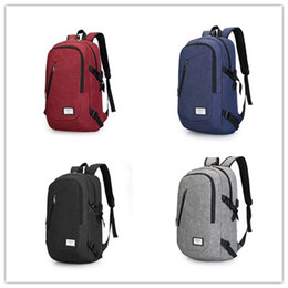 Wholesale Bag Camera Swim - New style backpack College bag USB recharge field trip canvas bag Easy lifestyle multi-function charging contracted students travel camera b