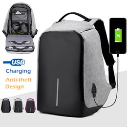 Wholesale Nylon Bag Business - New 15.6 Inch Laptop Backpack Anti-theft Travel Backpack Business Computer Bag School Bag Tech Daypack Knapsack with USB Charge Port B112