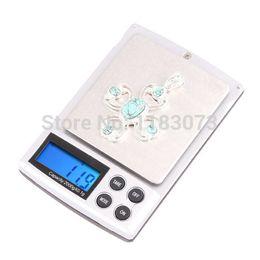 Wholesale 2kg Digital - 2000g 0.1g Digital Kitchen Scales Stainless Steel 2KG Pocket Electronic Jewelry Scale Diamond Gem Lab Balance Weight 100pcs lot Free Shippi